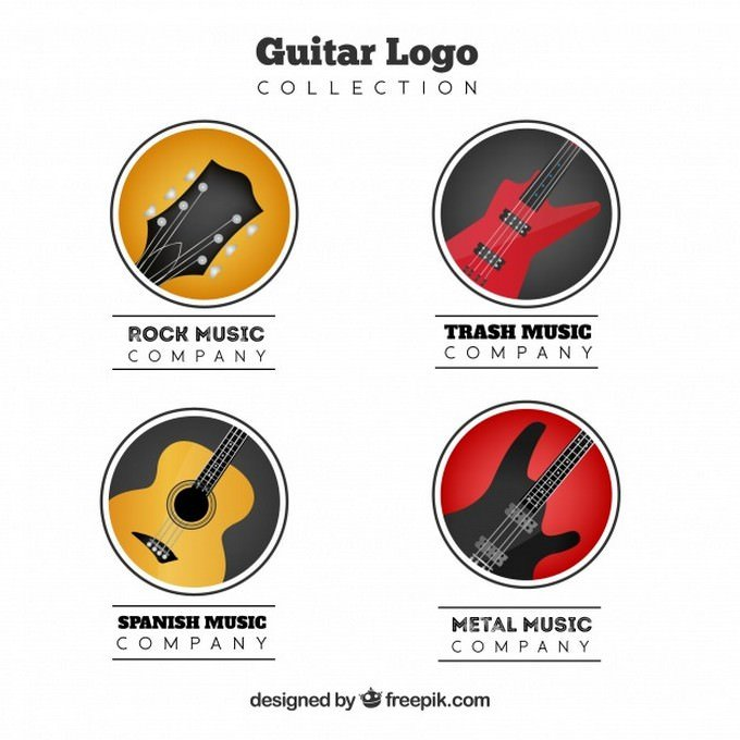 Pack of Four Guitar Logos