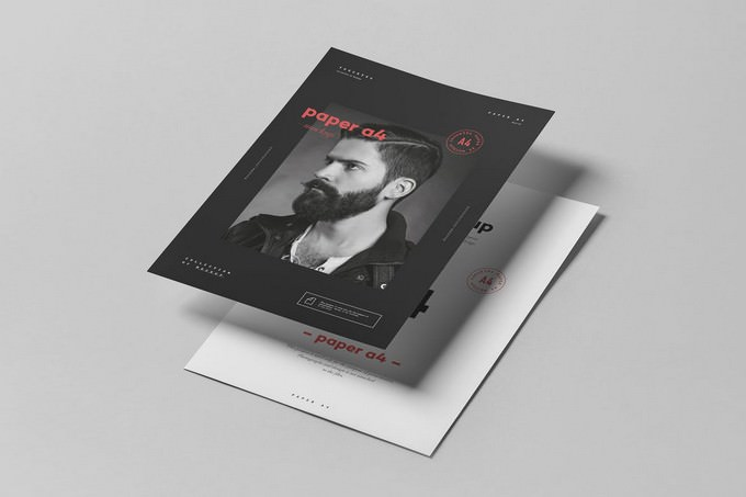 Paper A4 Mock-up PSD