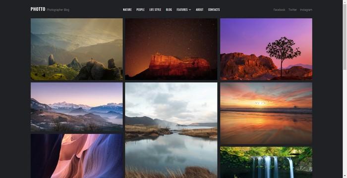 Photto - Photographer Blog Elementor WordPress Theme