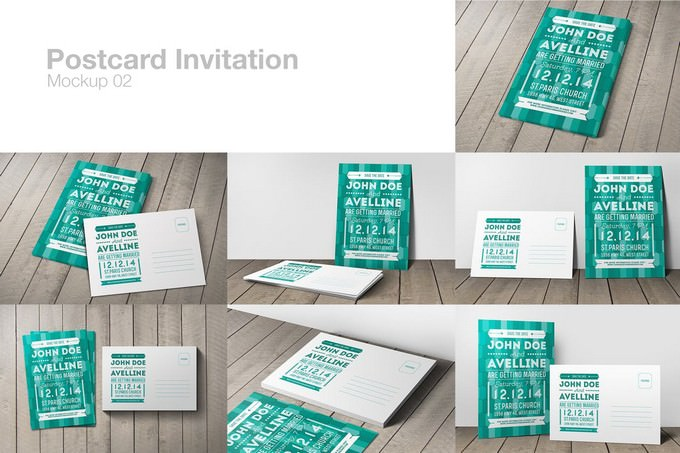 Postcard Invitation Mockup