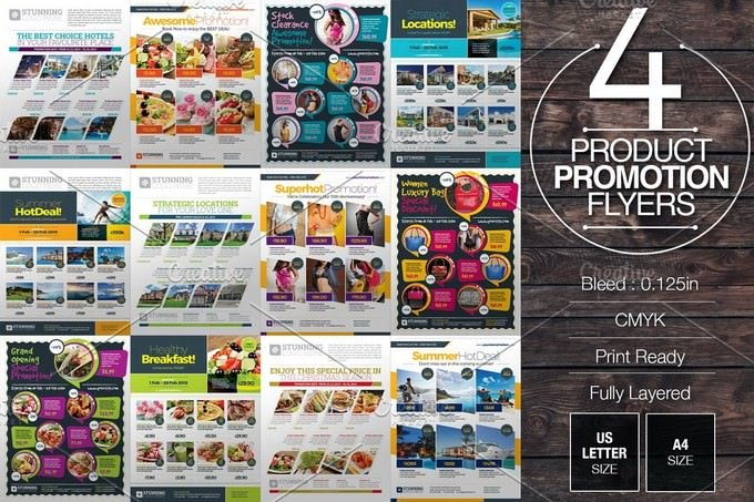Product Promotion Flyer Bundle Template