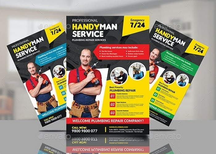 Professional Handyman Services Flyers