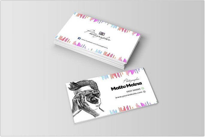 Photographer Visiting Card Template