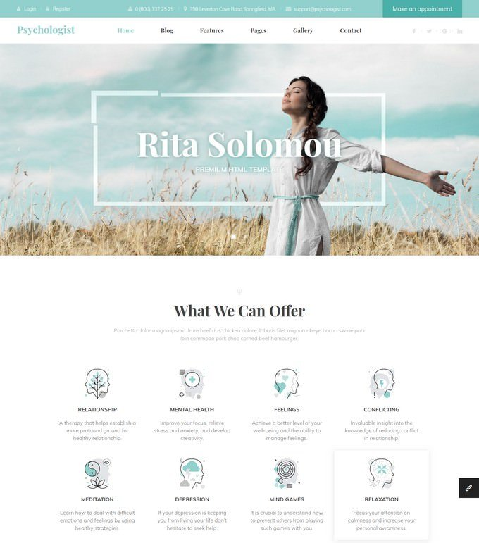 Psychologist - Personal HTML Template