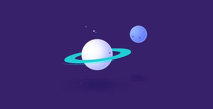 Pure CSS Saturn Hula Hooping