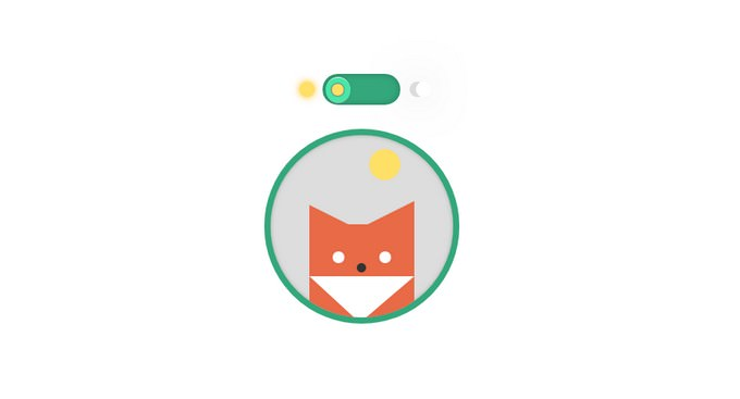 Pure CSS Switch Day and Night for Fox