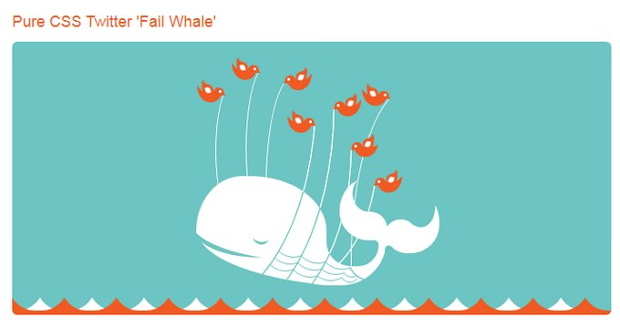 Pure CSS Twitter Fail Whale