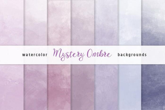 Purple Ombre Watercolor Backgrounds