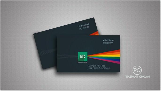 Rainbow digital visiting card