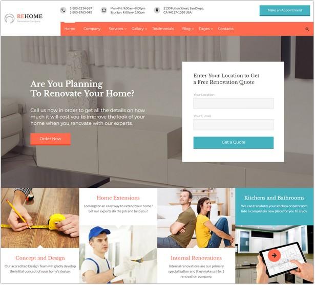 Home Renovation & Modeling Multipage HTML Website Template