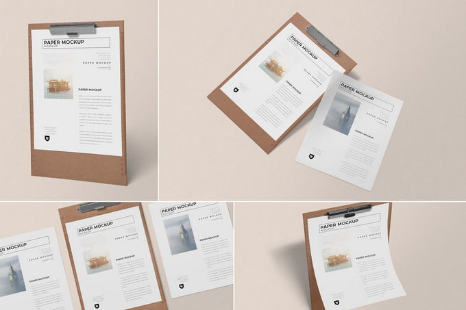 Realistic Paper Mockup