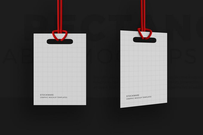 Rectangle Label Mockups