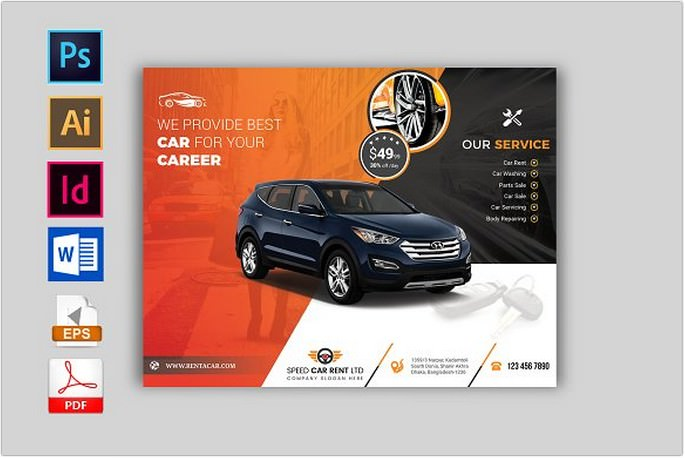 21 best car rental flyer templates psd ai format 2018 templatefor