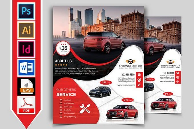 Rent A Car Flyer Template Vol-08