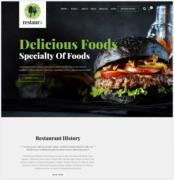 Restaurant HTML Restaura for Restaurant