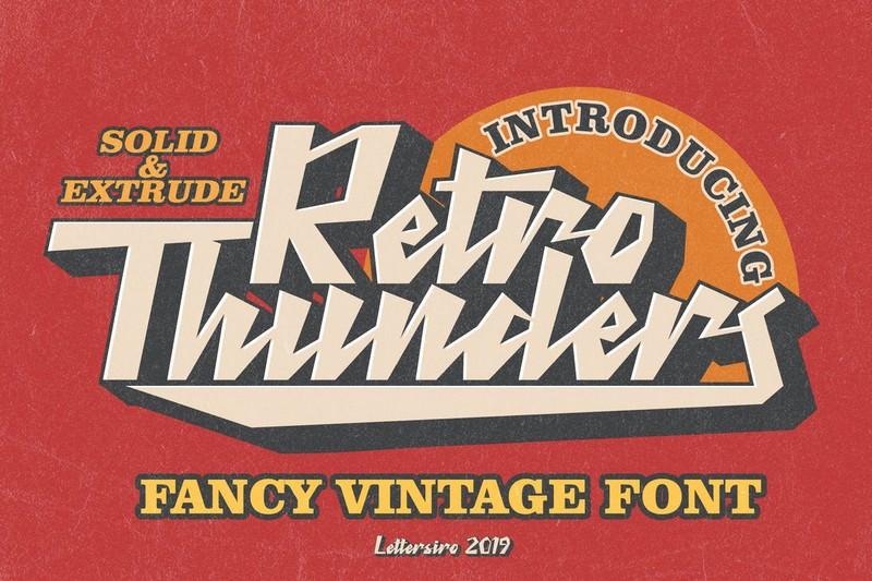 Retro Thunders - Retro Font
