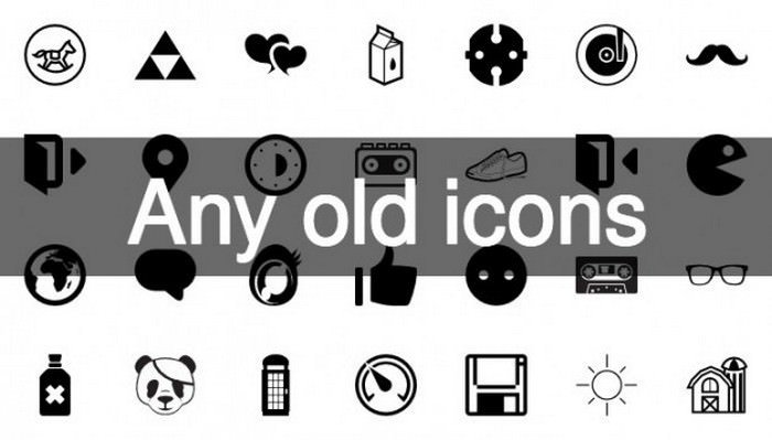 Retro icons Set 69 Vintage icon