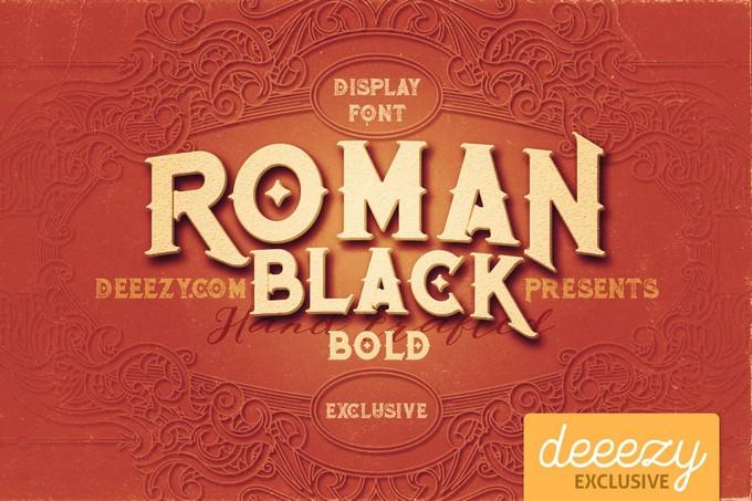Roman Black Bold Font