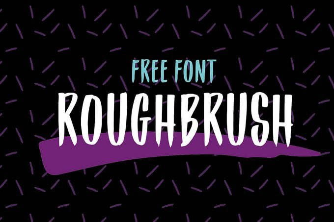 Roughbrush – Free Font