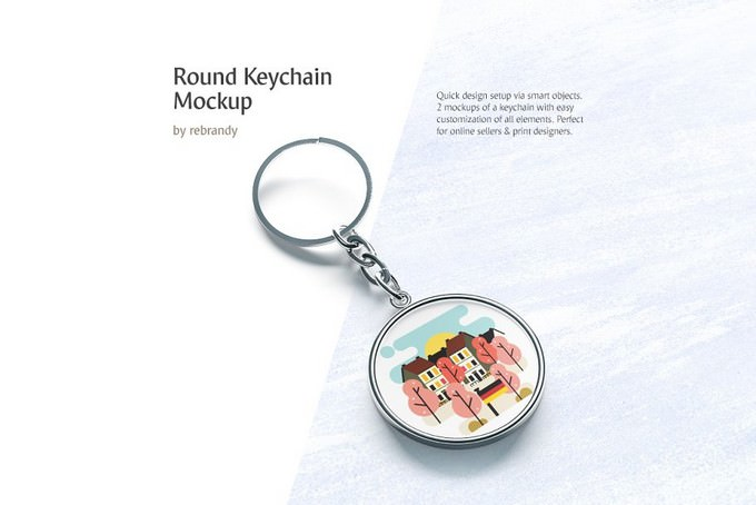 Round Keychain Mockup Template