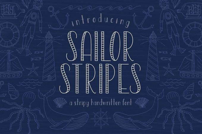 Sailor Stripes Font