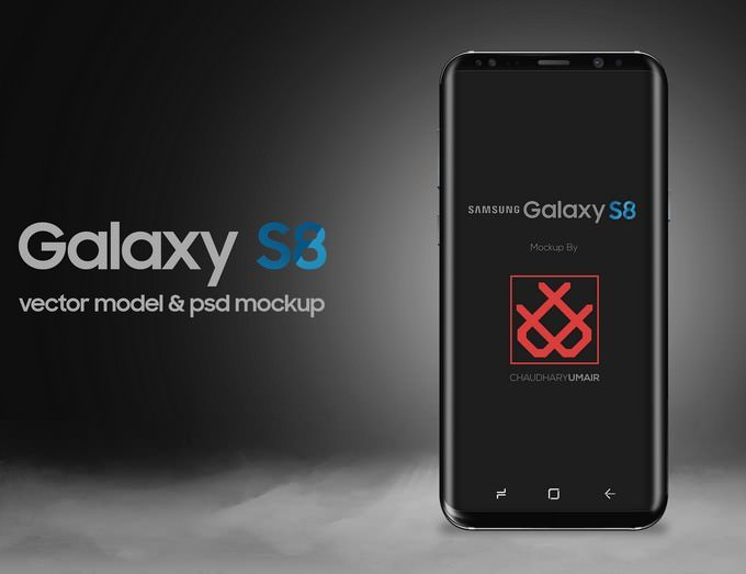 Samsung Galaxy S8 Mockup Free PSD
