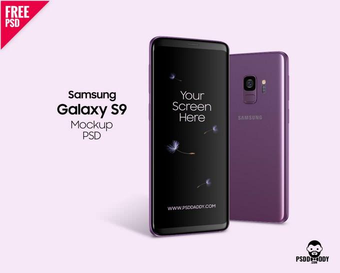 Samsung Galaxy S9 Mockup PSD