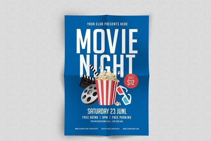 Saturday Movie Night Flyer