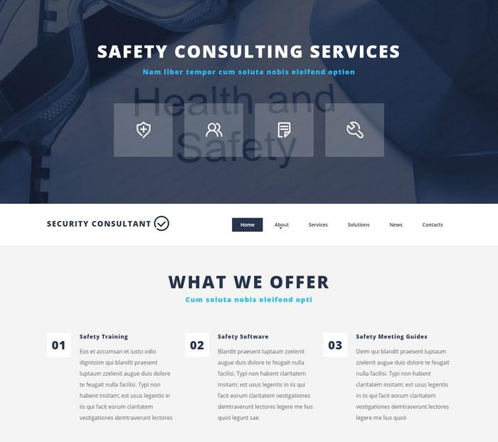 Security Adviser Website Template
