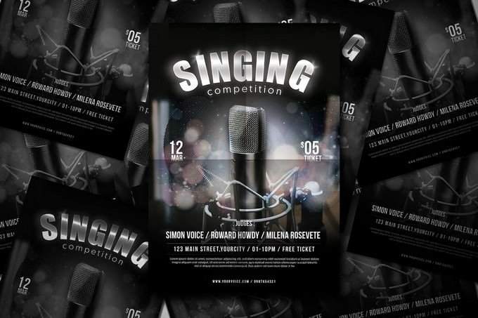 Sing Contest Flyer Template