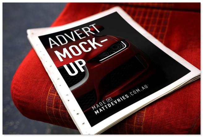 Smart Newspaper Advertising PSD Template Mockup