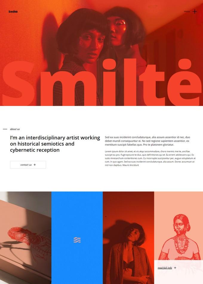 Smiltė - Simple Portfolio WordPress Theme