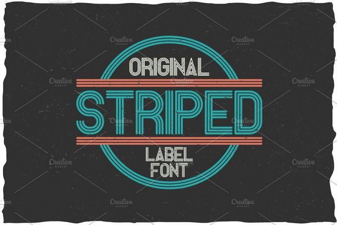 Striped Vintage Label Typeface