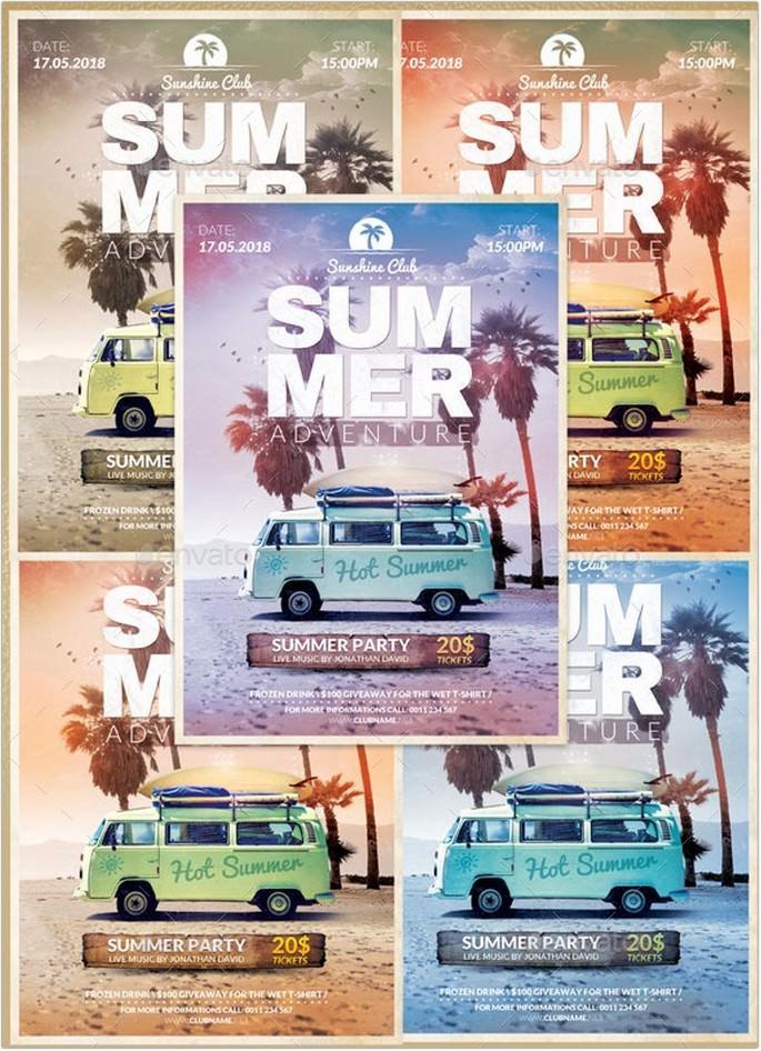 Summer Adventure Flyer Template # 2