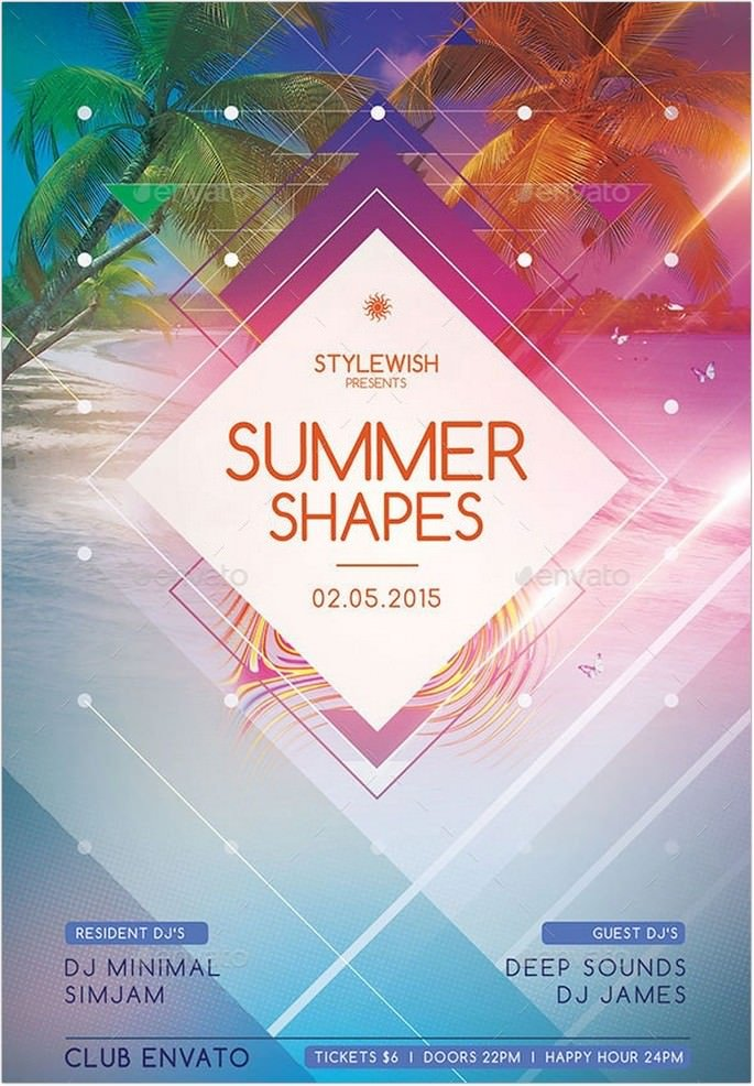 Summer Shapes Flyer