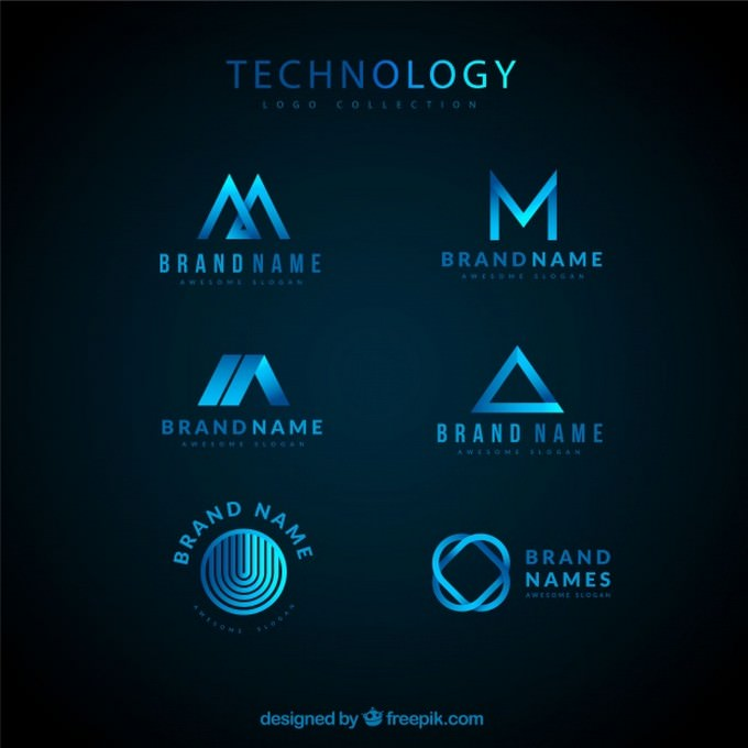 Technological Logo Collection