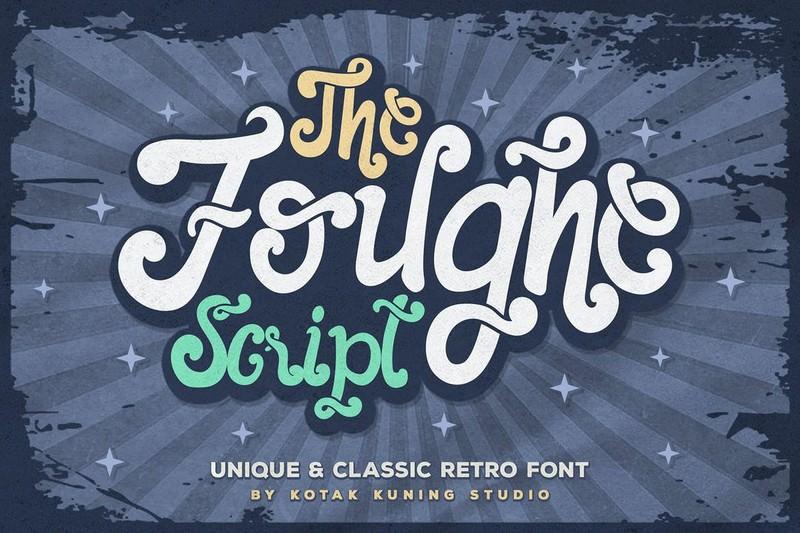 The Foughe Retro Script Font
