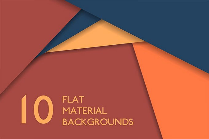 The Set of Flat Material Backgrounds