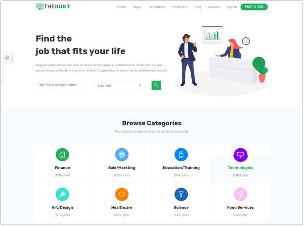 Bootstrap 4 Job Portal Template