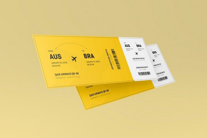 Ticket Mockup 5.5x2
