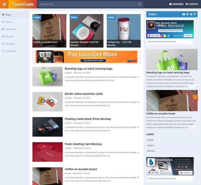 TouchCade Blogger Template