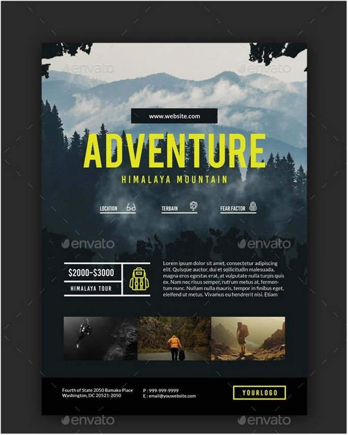 Travel Adventure Package Flyer
