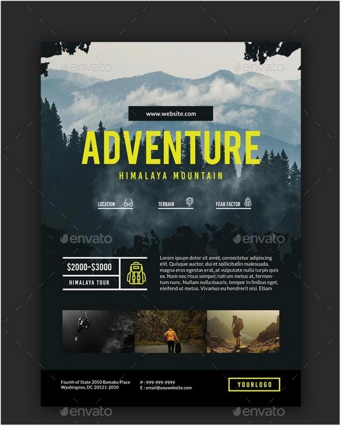 Travel Adventure Package Flyer