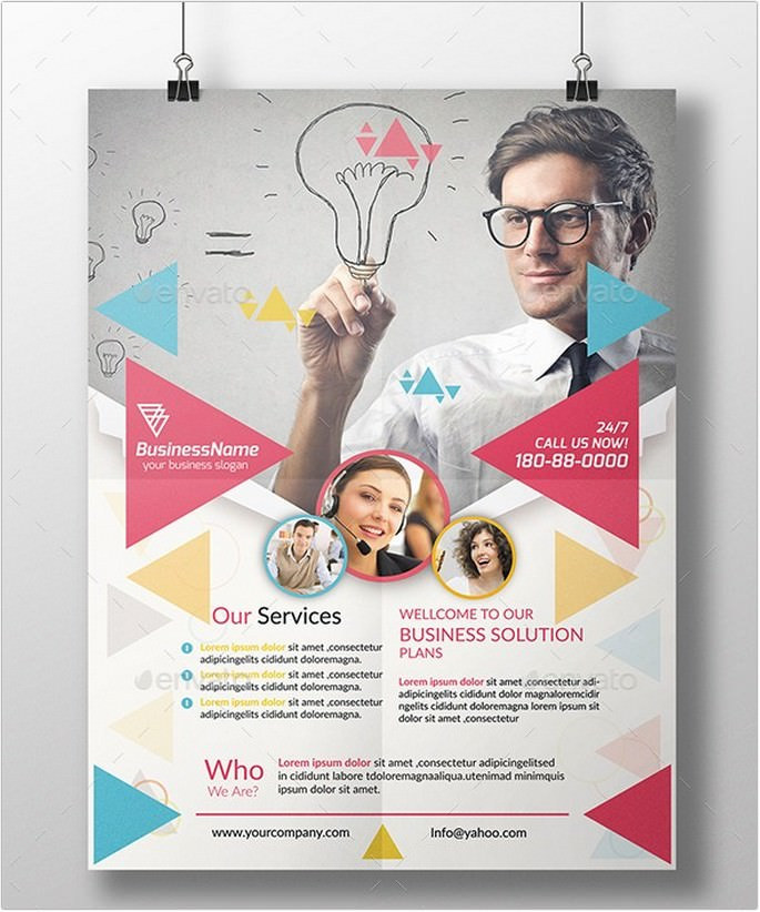 Triangle Shape Corporate Flyer