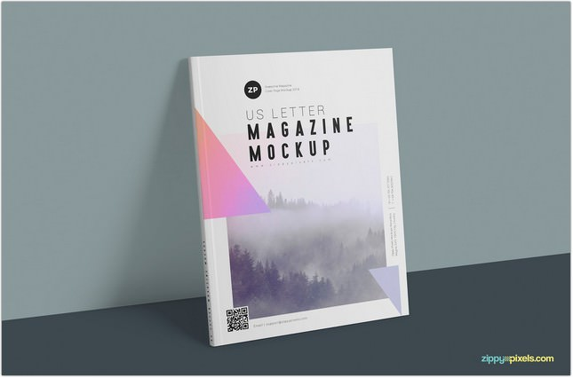 Two Free US Letter Magazine Mockups