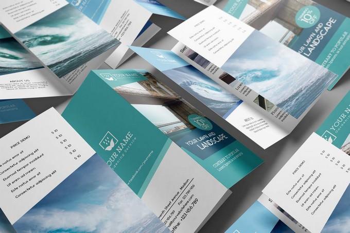 US Letter Tri-Fold Brochure Mock-up