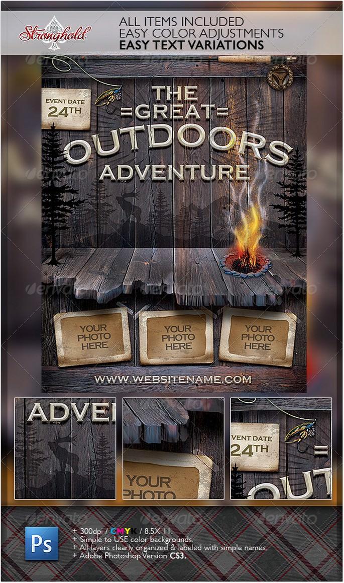 Vintage Outdoor Camping Adventure Flyer