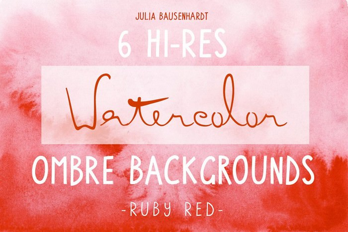 Watercolor Ombre Backgrounds (red)