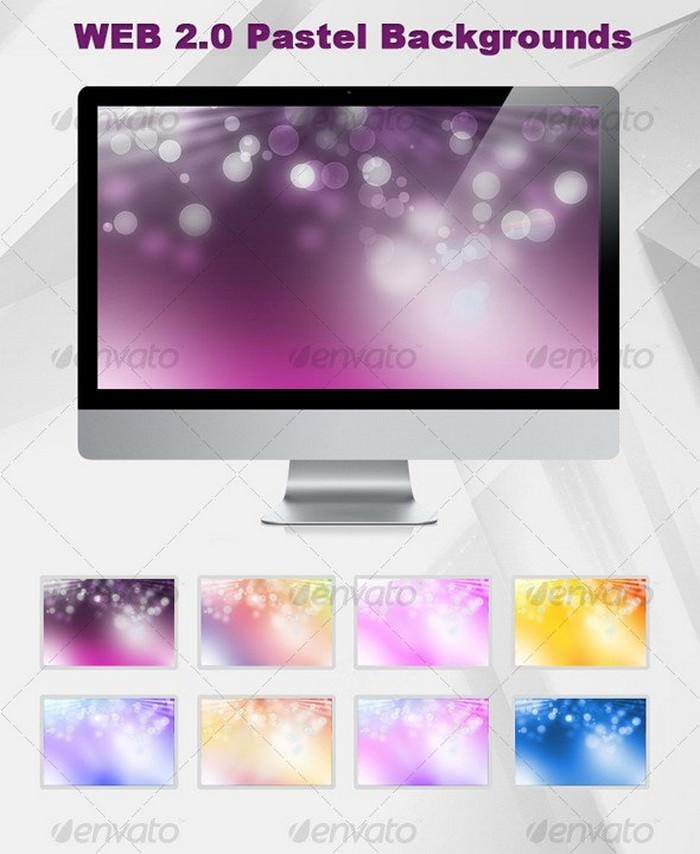 Web 2.0 pastel background