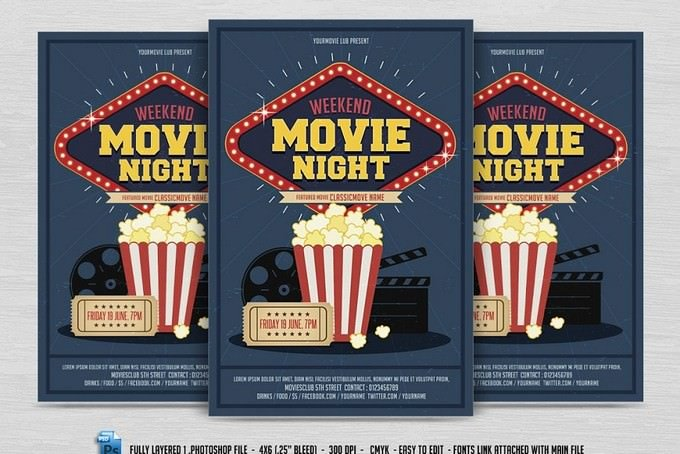 Weekend Movie Night Flyer